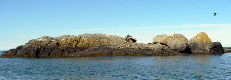 The rocky islet to the southeast of the main island of Green Rock