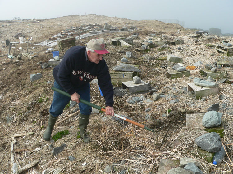 Aldric d'Entremont cleaning up the main ROST nesting area