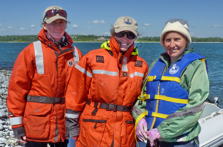 Julie, Karen, and Margie - North Brother, June 19, 2014 - Ted D'Eon photo