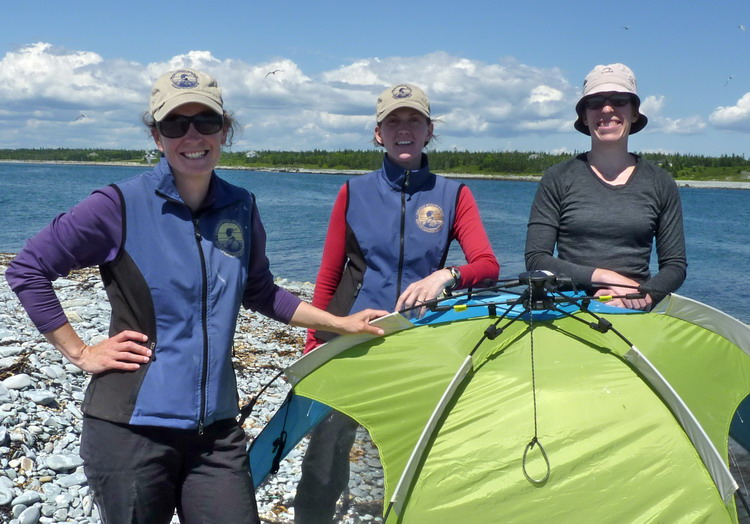 Karen, Julie, and Manon - North Brother, June 23, 2014 - Ted D'Eon photo