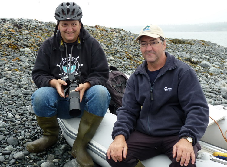 My assistants - Ronnie and Ellis d'Entremont - North Brother, July 8, 2014 - Ted D'Eon photo