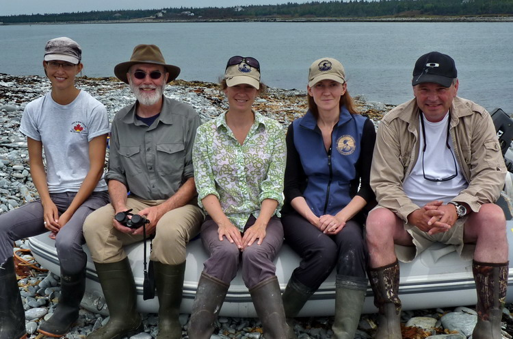 The crew: Hailey, Duncan, Karen, Julie, and Mark - North Brother, July 11, 2014 - Ted D'Eon photo