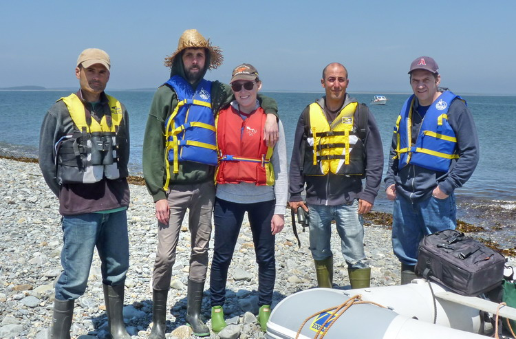 Bertin, Gavin, Ingrid, Alix, and Roland - Gull Island, July 3, 2017 - Ted D'Eon photo