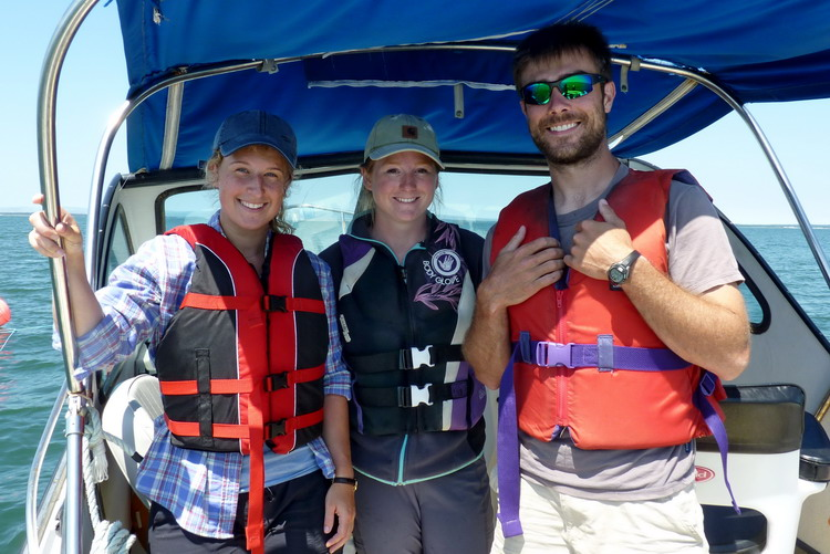 Natalie, Manon, and Nick - Gull Island, July 16, 2018 - Ted D'Eon photo
