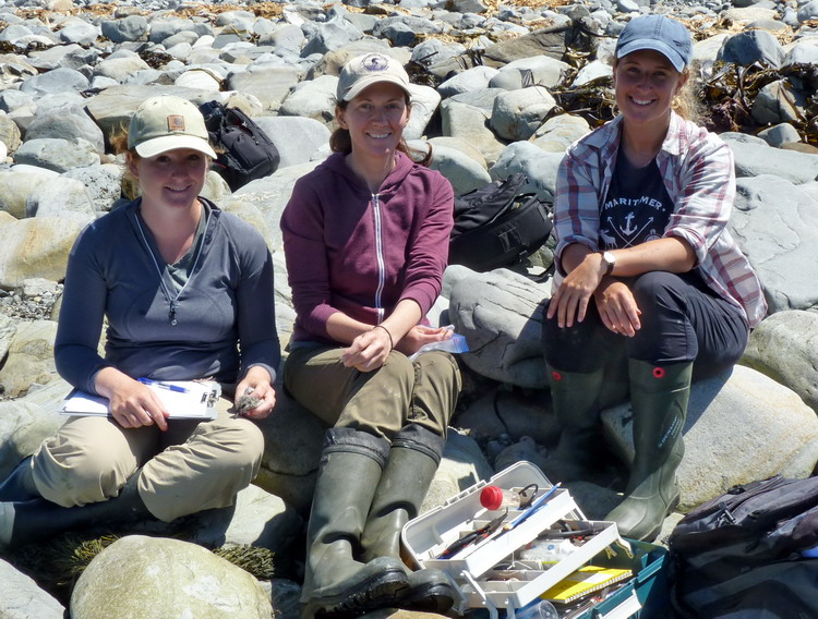 Manon, Julie, and Natalie - Gull Island, July 19, 2018 - Ted D'Eon photo
