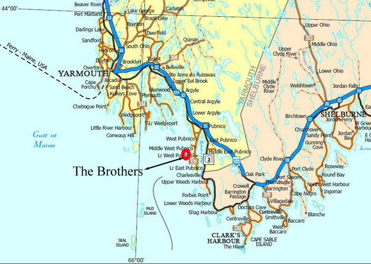THE BROTHERS, Yarmouth County, Nova Scotia